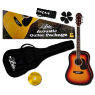 Aria Prodigy Series Acoustic Guitar Package in Brown Sunburst