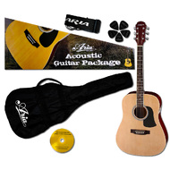Aria Prodigy Series Acoustic Guitar Package in Natural