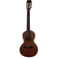 Aria ASA Series Steel String Travel Guitar in Natural Satin