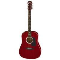 Aria AW-15 Dreadnought Acoustic Guitar in Metallic Candy Apple Red