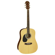 Aria AW-15 Left Handed Dreadnought Acoustic Guitar in Natural