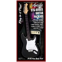 Aria STG-Series Electric Guitar & Amp Package in Black