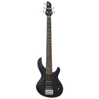 Aria IGB Series 5-String Electric Bass Guitar in Metallic Black