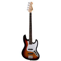 Aria STB-JB Series Electric Bass Guitar in 3-Tone Sunburst