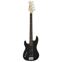 Aria STB-PJ Series Left Handed Electric Bass Guitar in Black