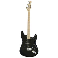 Aria STG-003SPL Series Electric Guitar in Black
