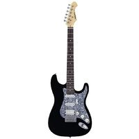 Aria STG-004 Deluxe Series Electric Guitar in Black