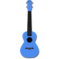 Kealoha Concert Ukulele in Plain Blue with Blue ABS Resin Body