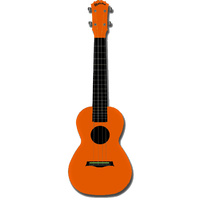 Kealoha Concert Ukulele in Plain Orange with Orange ABS Resin Body