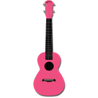 Kealoha Concert Ukulele in Plain Pink with Pink ABS Resin Body