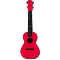Kealoha Concert Ukulele in Plain Red with Red ABS Resin Body