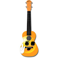 "Kealoha ""Smiley Yellow Face"" Design Concert Ukulele with Yellow ABS Resin Body"