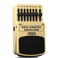 Behringer BEQ700 Ultimate 7-Band Bass Graphic Equalizer Pedal