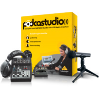 Behringer Complete PODCASTUDIO Bundle with USB Audio Interface