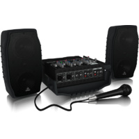 Behringer Europort PPA200 Ultra-Compact 200-Watt, 5-Channel Portable PA System with KLARK TEKNIK Multi-FX Processor