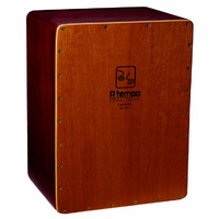 A Tempo Percussion Cajoncita Mohena Flamenco Cajon in Natural Satin Finish