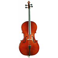 Ernst Keller VC150 Series 4/4 Size Cello Outfit in Semi-Gloss Finish