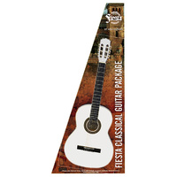 Aria Fiesta 1/2-Size Classical/Nylon String Guitar Pack in White