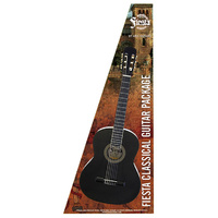 Aria Fiesta 3/4-Size Classical/Nylon String Guitar Pack in Black