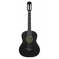 Aria Fiesta 1/2-Size Classical/Nylon String Guitar in Black