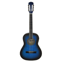 Aria Fiesta 4/4-Size Classical/Nylon String Guitar in Blue Shade