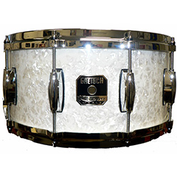 Gretsch Renown Series Snare Drum in White Pearl Finish - 14 x 6.5""