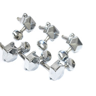GT Electric Guitar Covered Tuning Machines in Chrome Finish (6-inline)