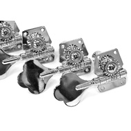 GT Electric Bass Guitar Open Gear Tuning Machines in Chrome Finish (4-Inline)