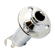 GT Takamine Style Stereo Endpin Jack Socket in Chrome Finish (Pk-1)