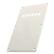 GT ABS Tremolo Spring Cover Back Plate with Holes in White (Pk-1)