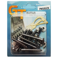 GT Wood Screws with Oval Head in Chrome Finish - 4.1mm x 40mm (Pk-10)