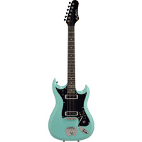 Hagstrom H-II Retroscape Guitar in Aged Sky Blue