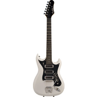 Hagstrom H-III Retroscape Guitar in White Gloss