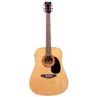 Kohala KG100 Series Dreadnought AC/EL Guitar in Natural Finish