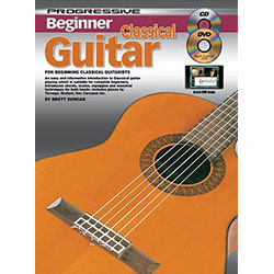 Progressive Beginner Classical Guitar Book/CD/DVD