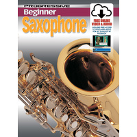 Progressive Beginner Saxophone Book/Online Video & Audio