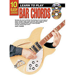 10 Easy Lessons Learn To Play Bar Chords Book/CD/DVD