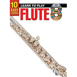 10 Easy Lessons Learn To Play Flute Book/CD/DVD