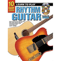 10 Easy Lessons Learn To Play Rhythm Book/CD/DVD