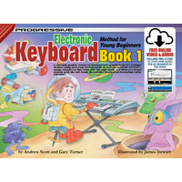 Progressive Keyboard Book 1 for Young Beginners Book/Online Video & Audio