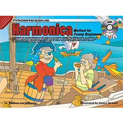 Progressive Harmonica for Young Beginners Book/CD