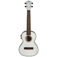 Lanikai Julia Michaels Signature Tenor AC/EL Ukulele in White Pearl Finish
