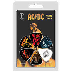 Perris 6-Pack AC/DC Licensed Guitar Pick Packs
