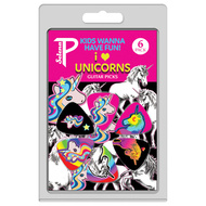 "Perris 6-Pack ""Kids Wanna Have Fun, I Love Unicorns Collection"" Licensed Guitar Picks Pack"