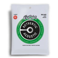 Martin Authentic Acoustic Marquis Silked 80/20 Bronze Light Guitar String Set (12-54)