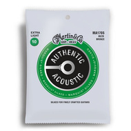 Martin Authentic Acoustic Marquis Silked 80/20 Bronze Extra Light Guitar String Set (10-47)
