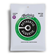 Martin Authentic Acoustic Marquis Silked 80/20 Bronze Custom Light Guitar String Set (11-52)
