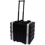 MBT ABS 6-Unit Rack Case with Wheels in Black