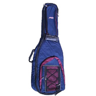 MBT Deluxe Padded Classical Guitar Bag in Blue/Red