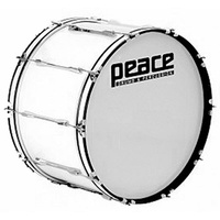 "Peace 10-Lug Marching Bass Drum in White (26 x 10"")"